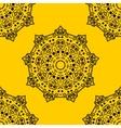 mandala on background seamless pattern vector image