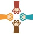 paw print kitti set icon design vector image