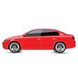 Red Sports Sedan vector image