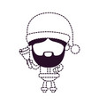 santa claus faceless holding hand bell on dotted vector image