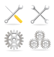 Set of tool icons vector image