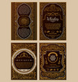 Vintage set retro cards template greeting card vector image