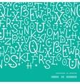 white on green alphabet letters horizontal frame vector image