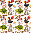 Seamless background with many animals vector image