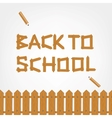 Back to school Text made from wooden boards for vector image