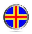 Aland Islands flag button vector image