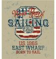 Vintage sailing club vector image vector image
