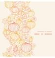 thanksgiving line art pumkins vertical frame vector image
