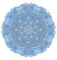 blue colour circle lace ornament vector image
