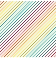 Seamless pattern with rainbow diagonal stripes vector image