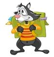 cartoon character raccoon vector image