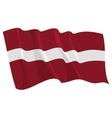 political waving flag of latvia vector image