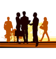 Business meet on the street vector image vector image