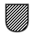 badge in monochrome and striped vector image
