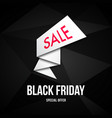 black friday sale pointer abstract signpost vector image