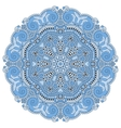 blue colour circle lace ornament vector image
