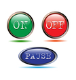 Buttons start up stop vector image