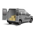 Delivery van with boxes on a white background vector image
