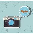 hipster camera design vector image