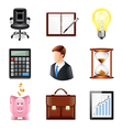 set business vector image