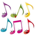 Set of colorful note smileys vector image