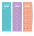 Set Of Three Clean Graphic Vertical Banners vector image