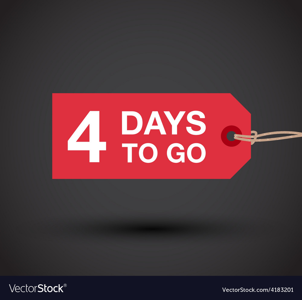4 days left sale vector