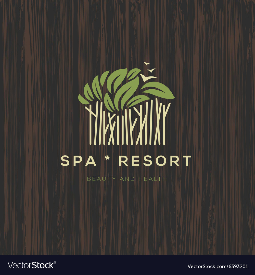 Logotype for spa resort or beauty business vector
