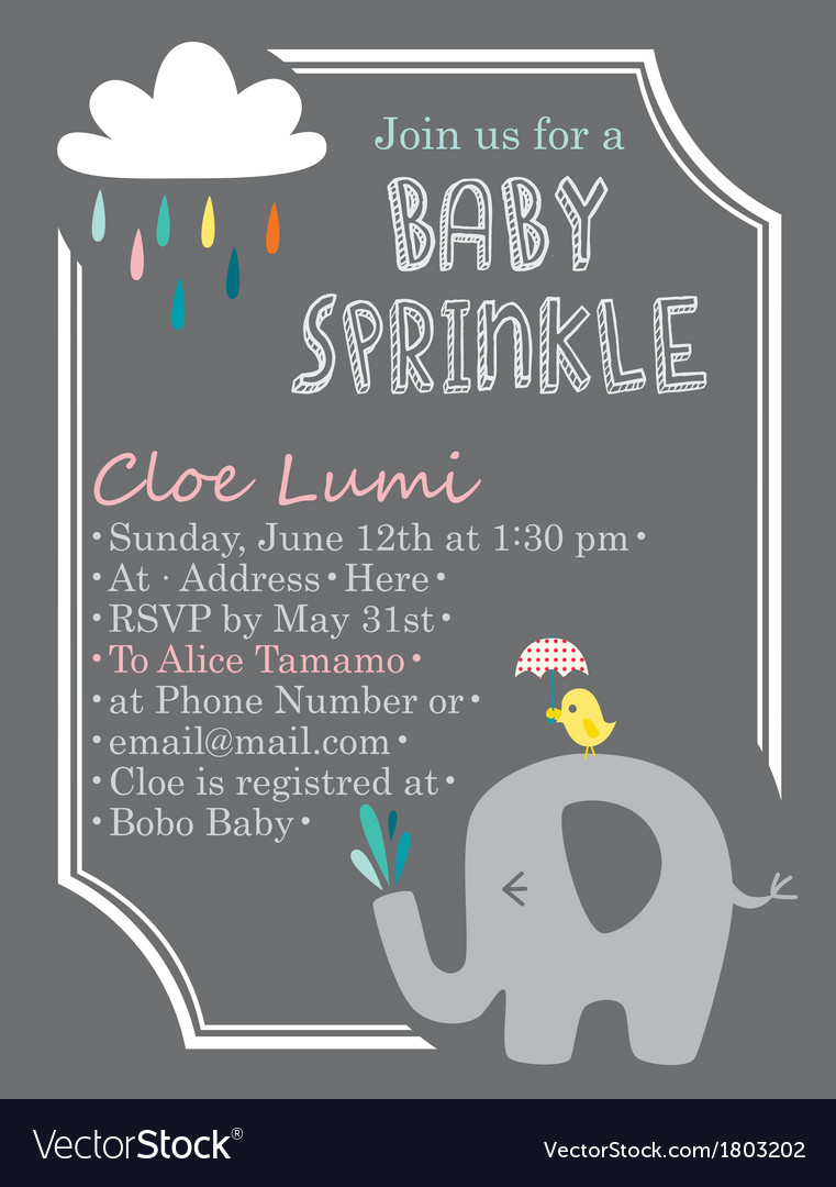 Babyshower elephant vector