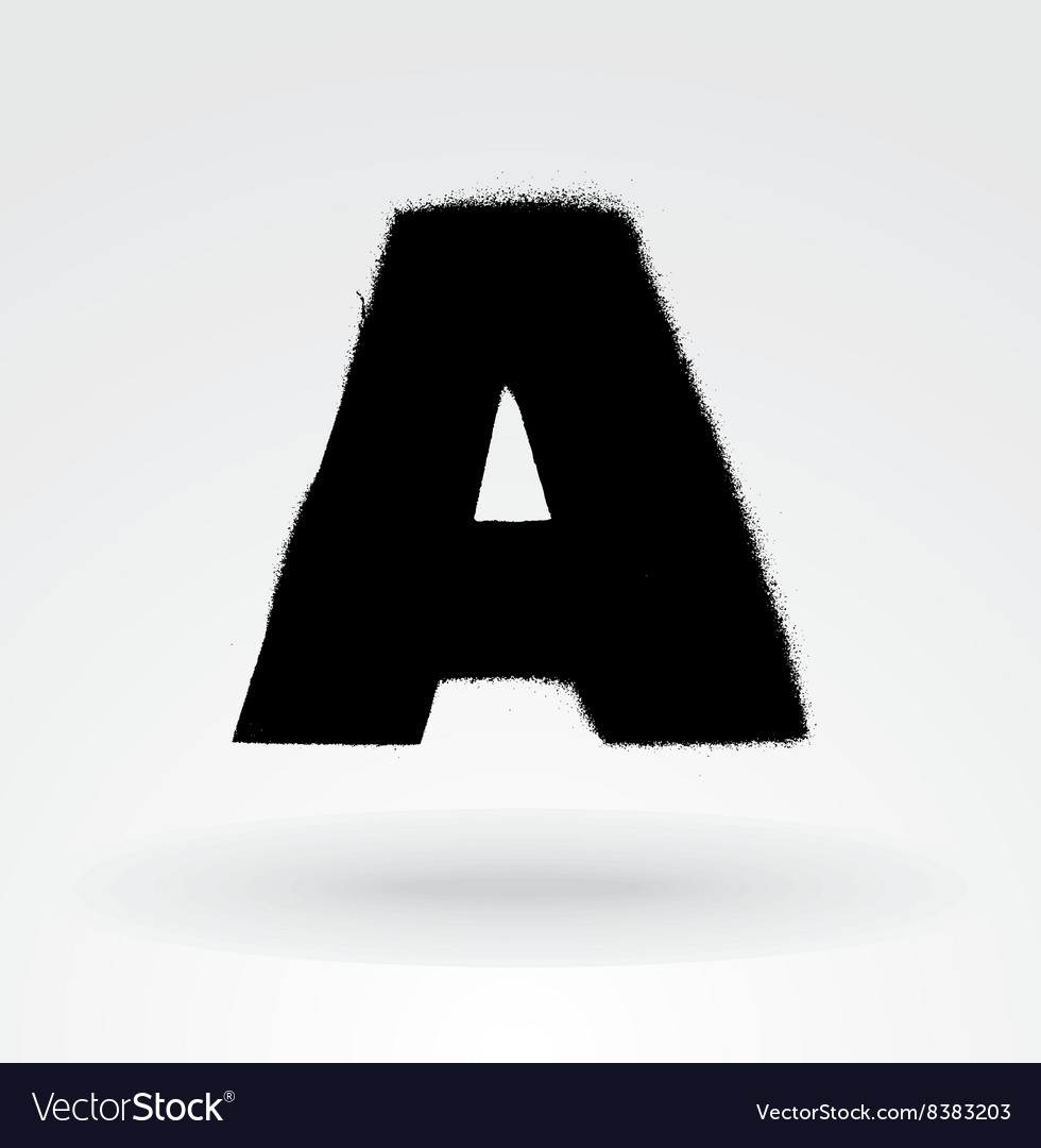 Stencil spray paint font detailed alphabet vector