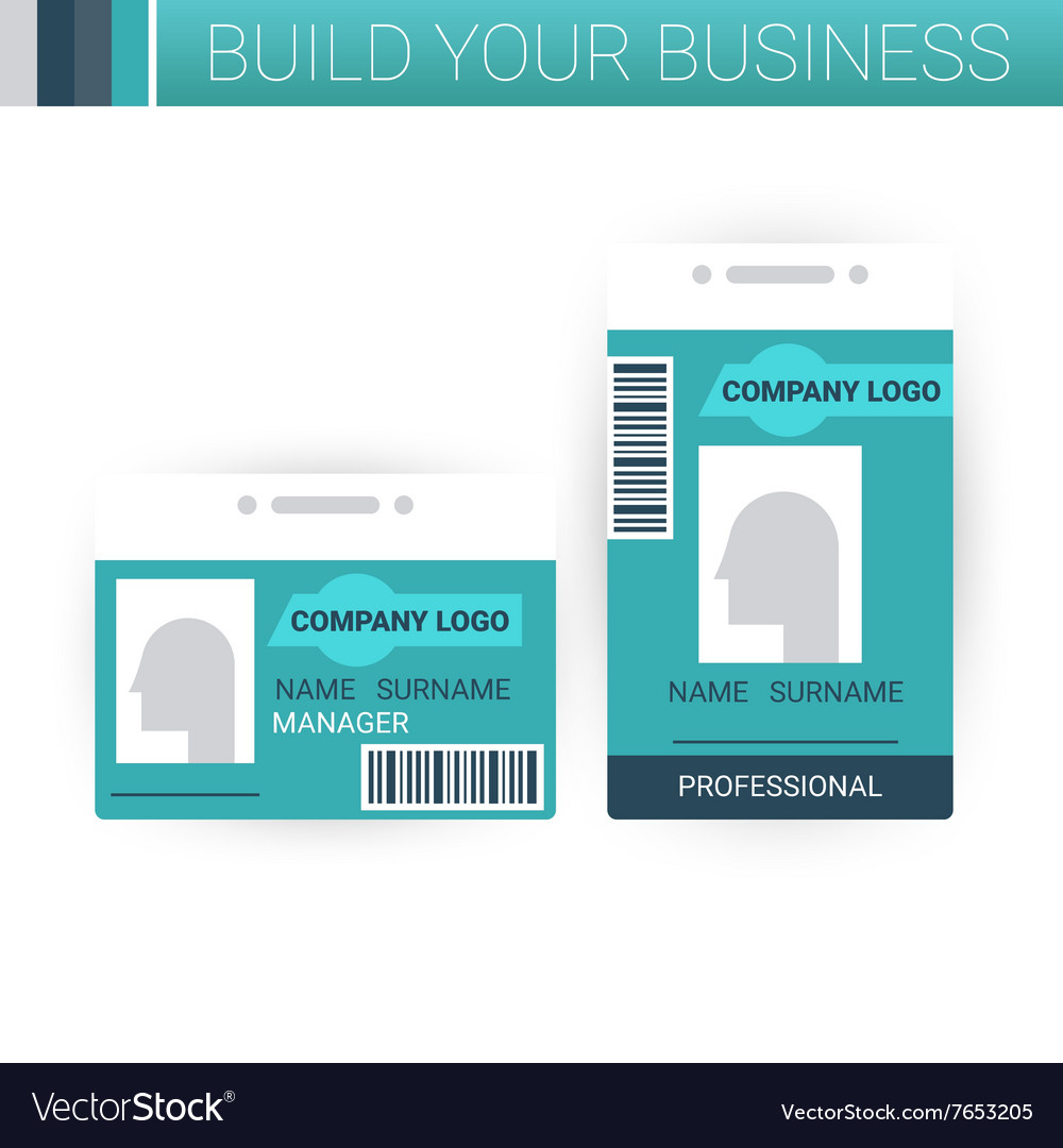 Business badge template design vector