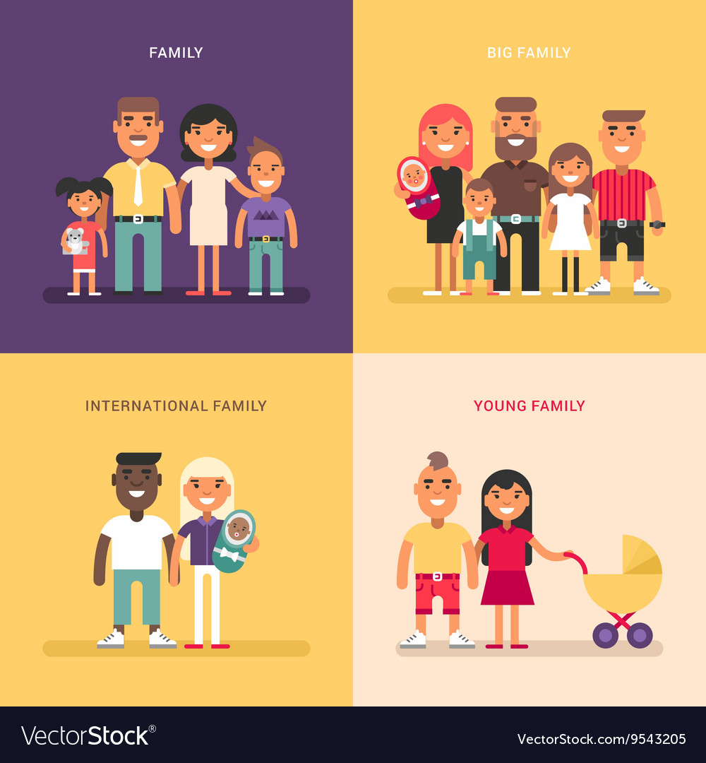 Family concept family structure size members vector