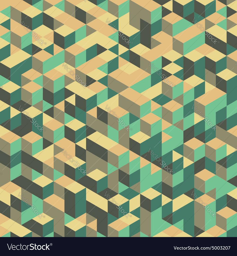 3d blocks structure background vector