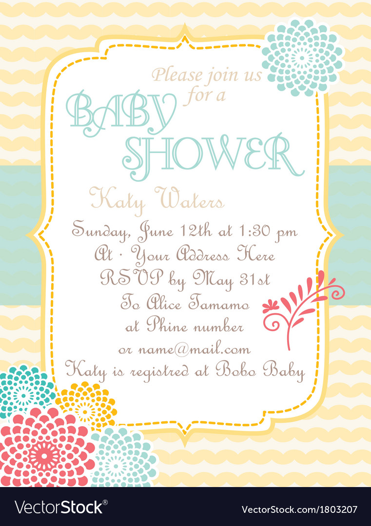 Babyshower softwaves vector