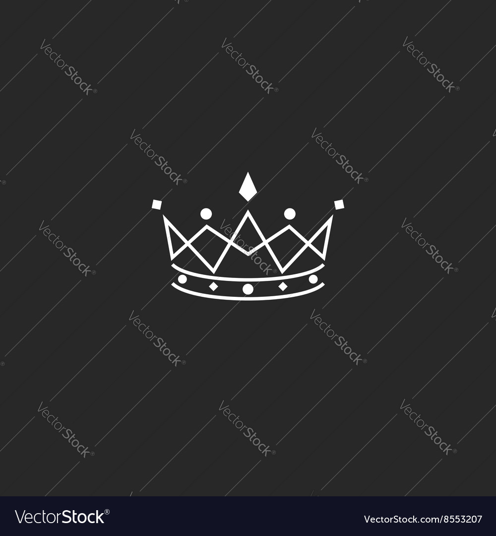 Royal symbol icon monogram crown logo beauty vector