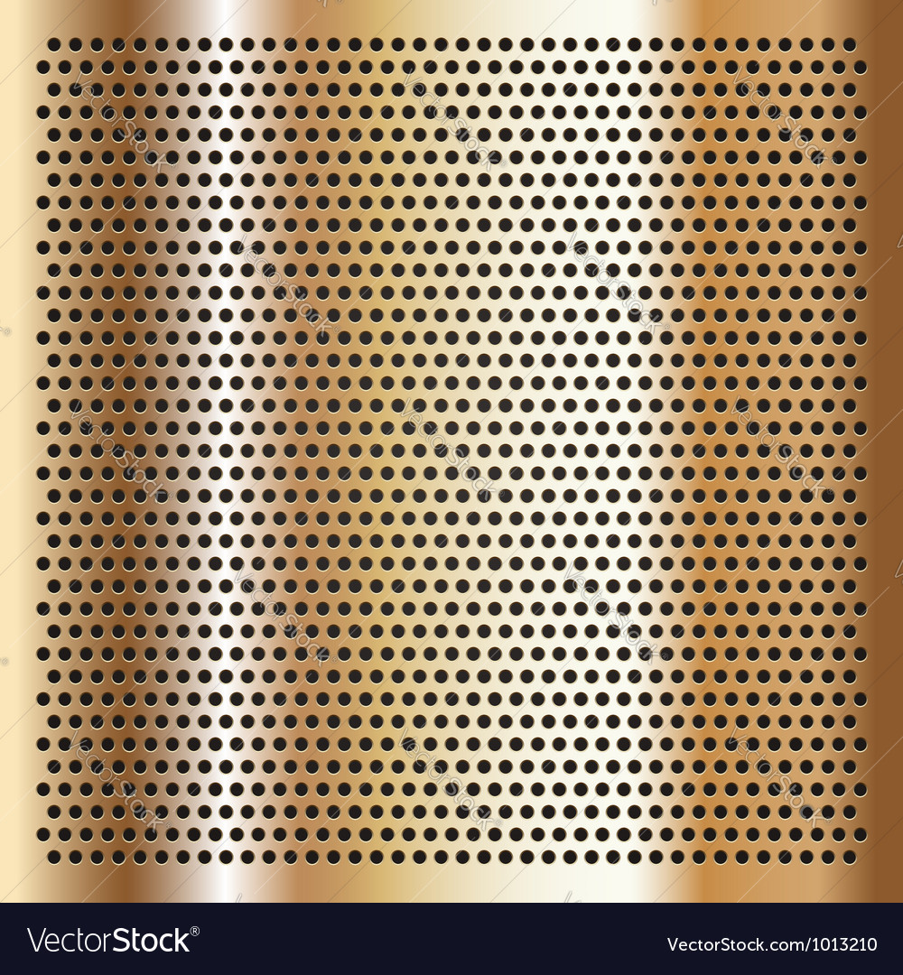 Gold background perforated sheet vector