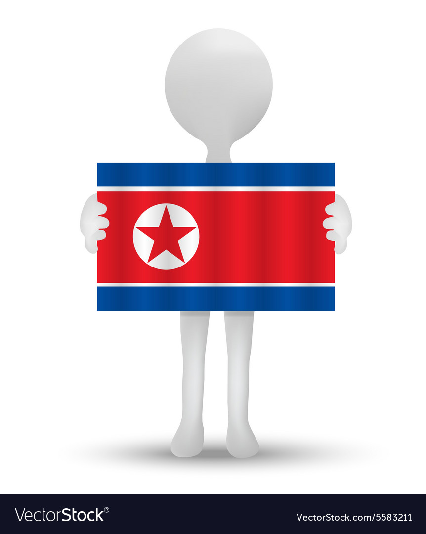 Flag of democratic peoples republic of korea vector