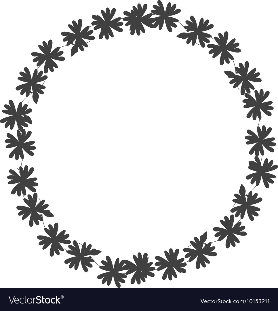 Wreath crown flower icon graphic vector