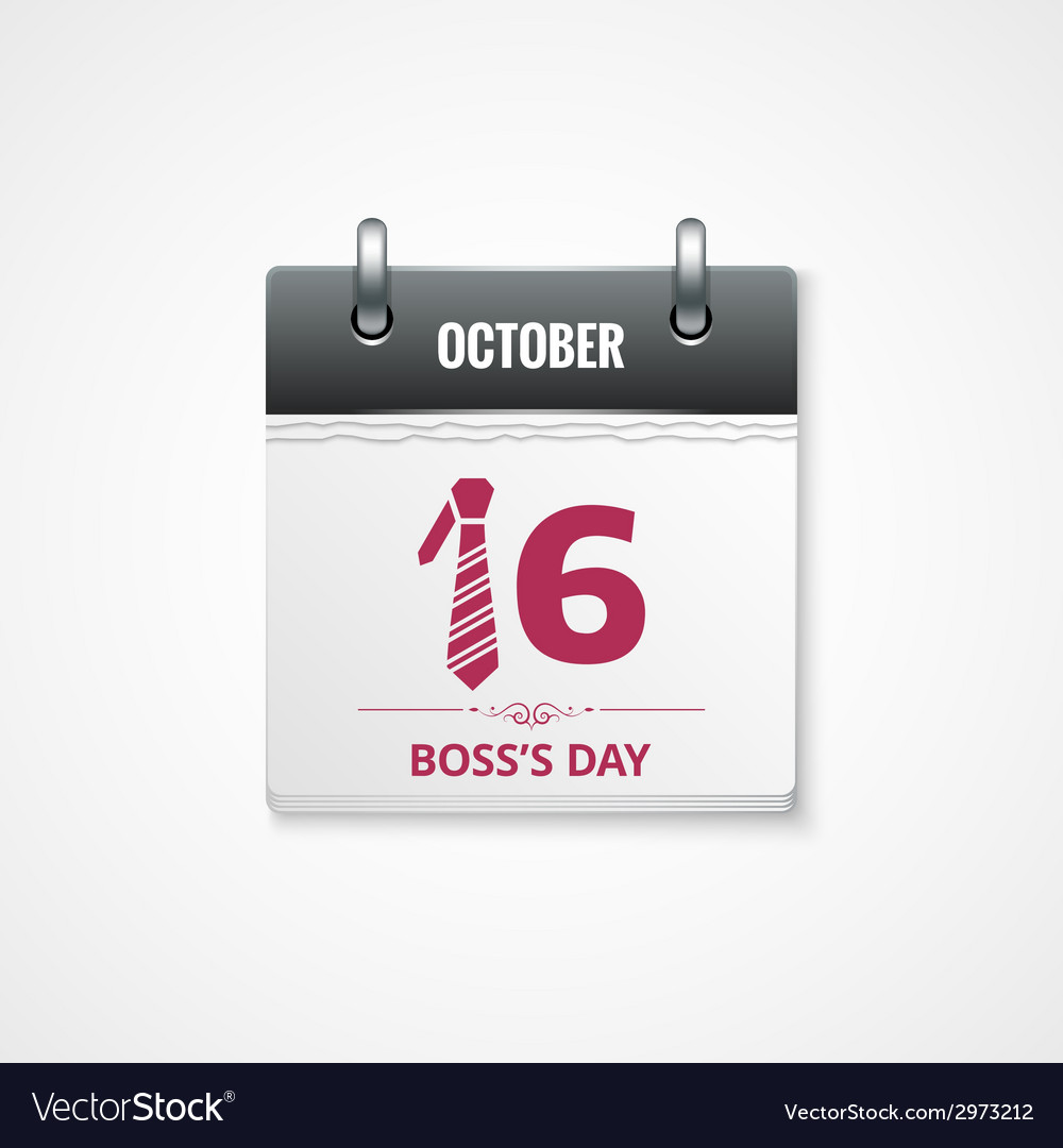 Boss day calendar background vector