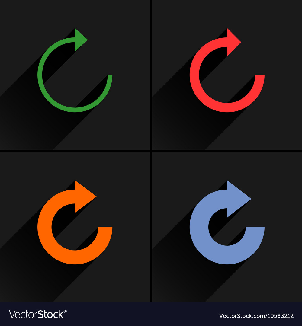 Color arrow reload refresh rotation reset icon vector