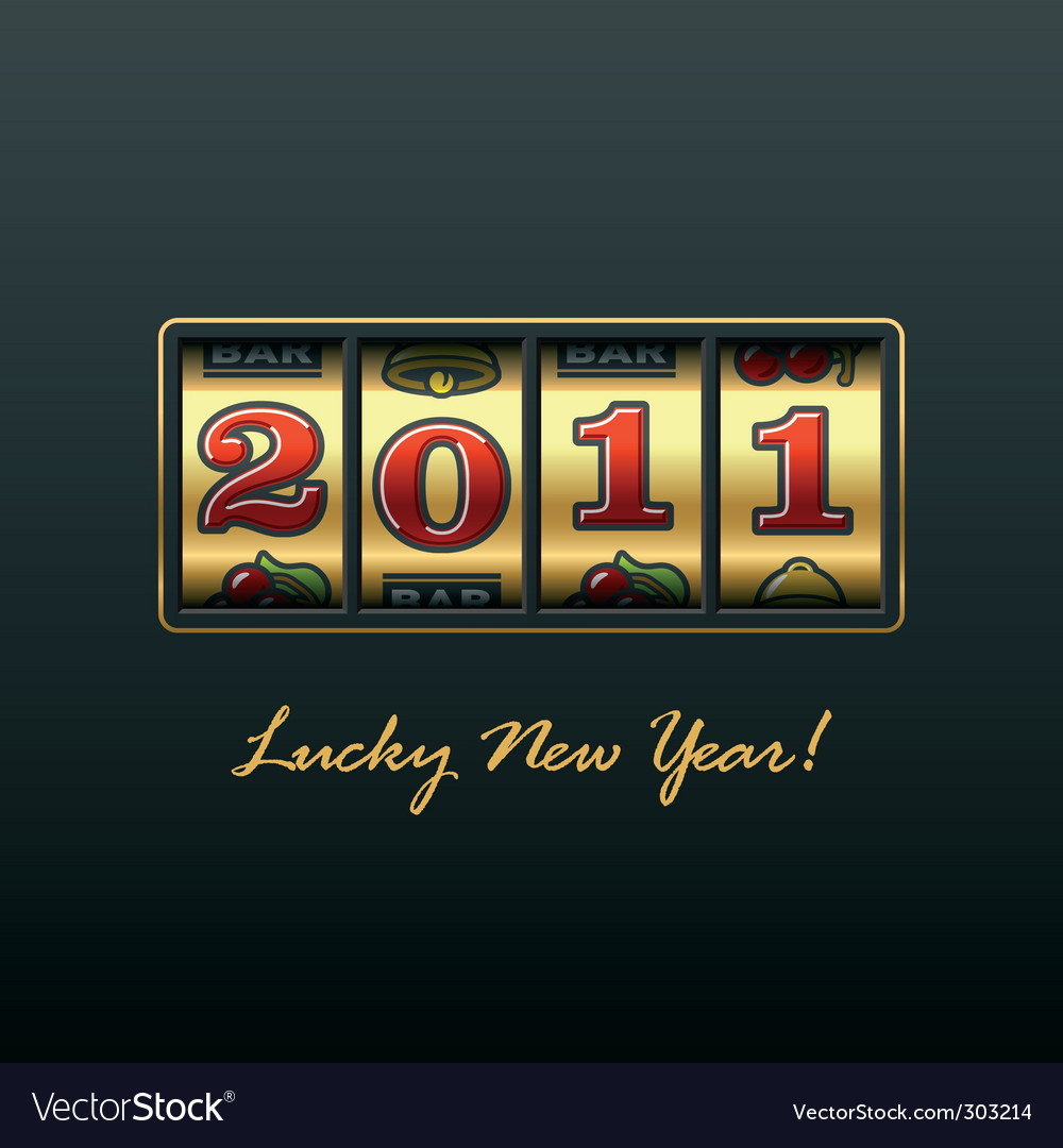 Lucky new year vector