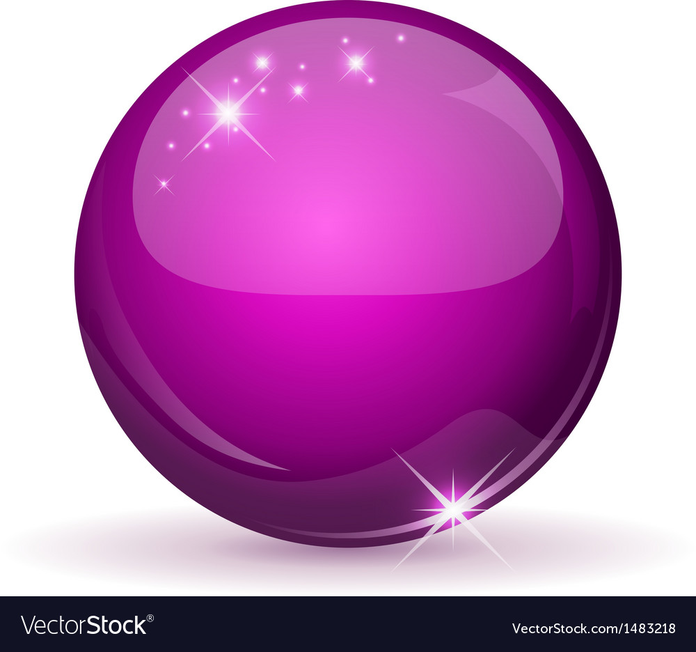 Pink glossy sphere vector