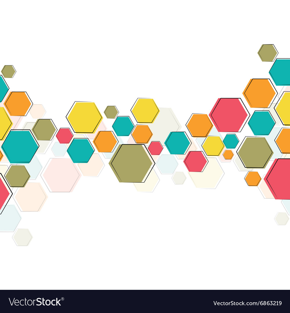 Color molecular structure vector