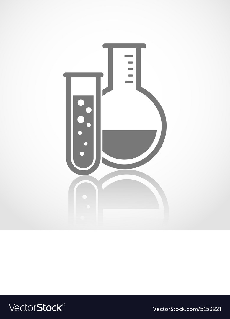 Chemical test tubes logo vector