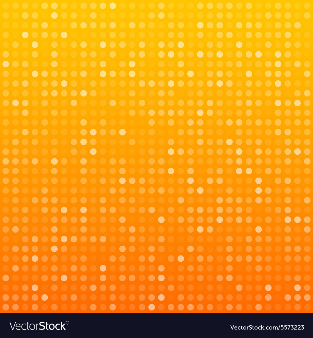 Circles orange technology pattern vector