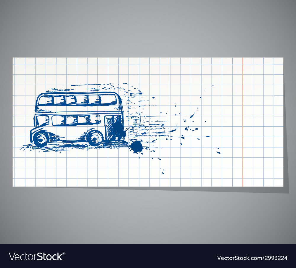 A handdrawn doubledecker bus vector