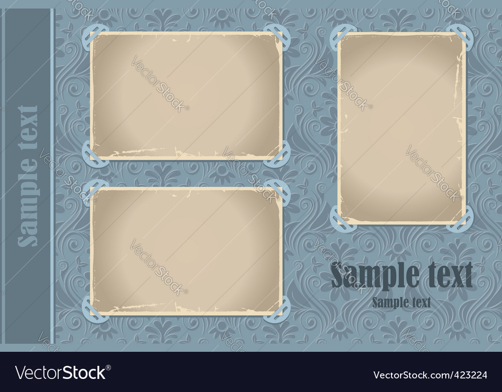 Photo album page vector
