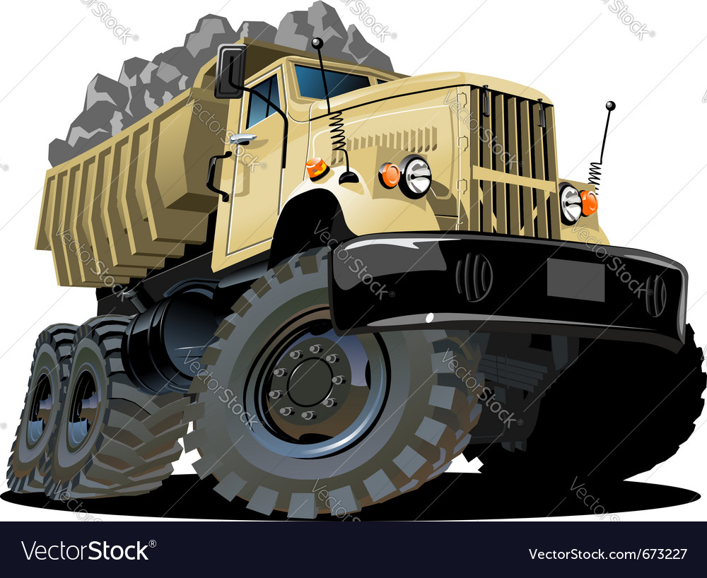 Cartoon dump truck vector