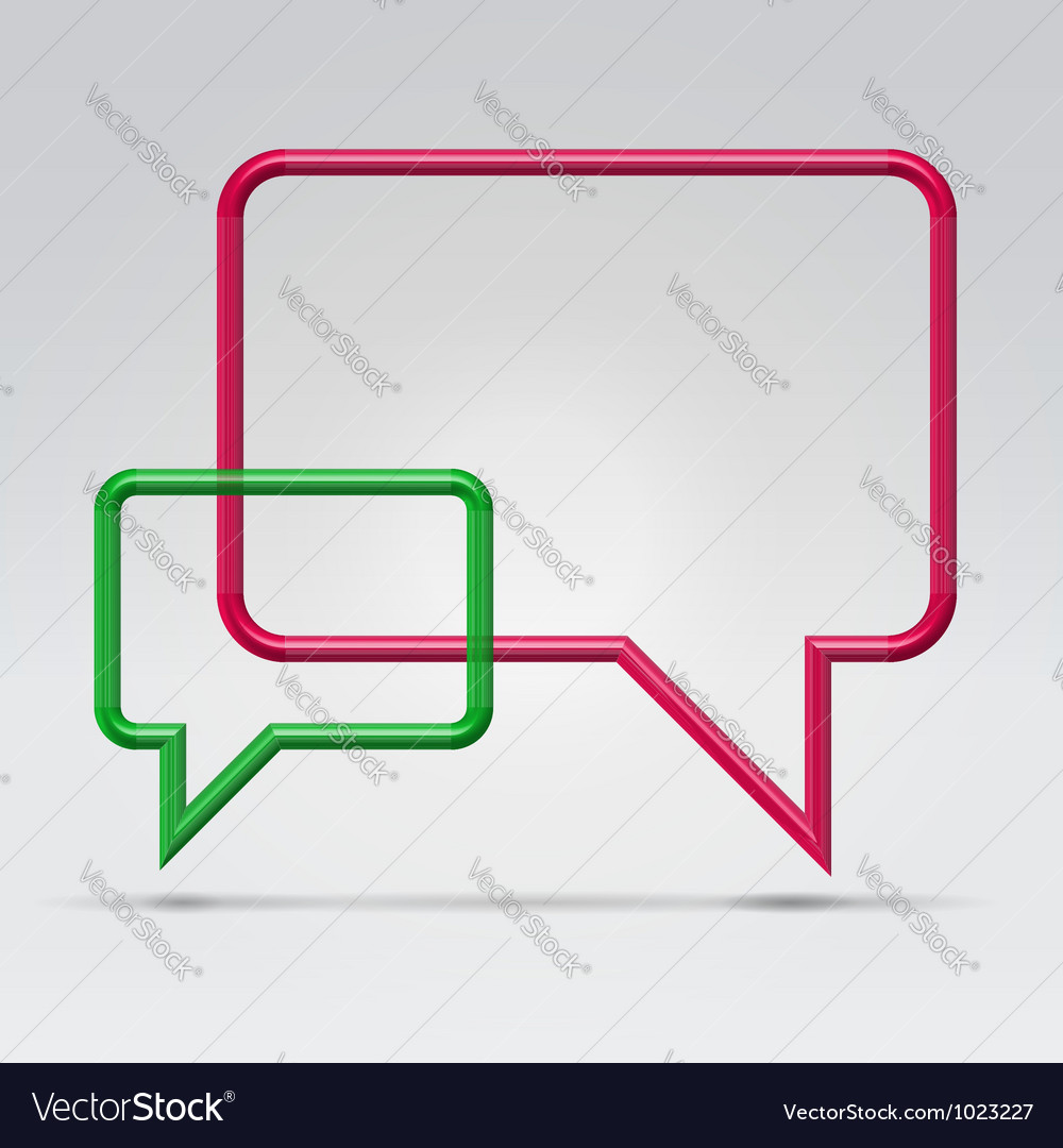 Couple square communication bubbles vector