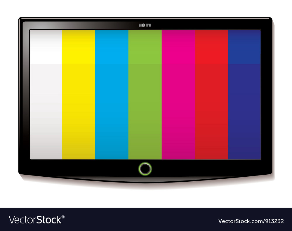 Lcd tv test screen vector